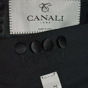 $1895 48R Canali 1934 Current Black Tuxedo BLAZER